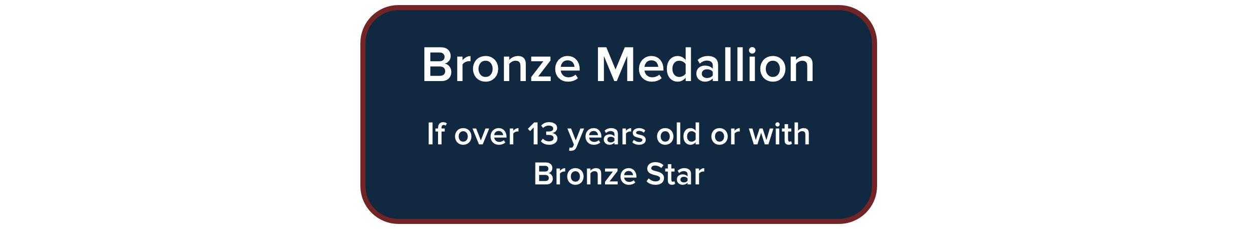 Bronze Medallion Course for over 13 years of age, or with Bronze Star Certification
