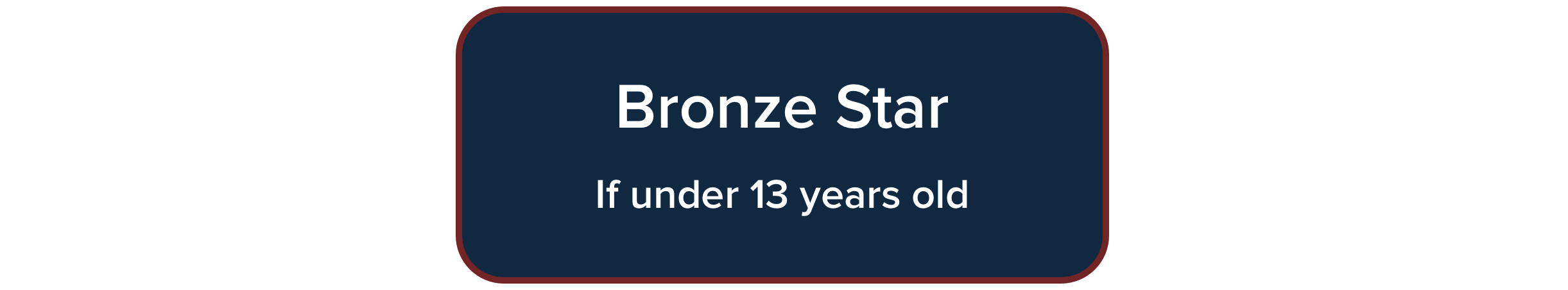 Bronze Star Course for under 13 years of age
